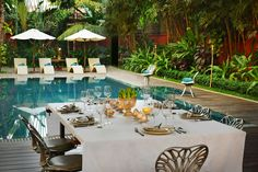 Set amidst luxuriant tropical gardens in Siem Reap, Cambodia, Maison Polanka is a charming and intimate boutique hotel with its own infinity-edge swimming pool and open-air restaurant serving high-quality Khmer cuisine.