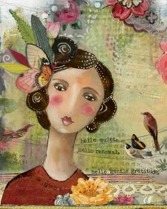 Hello Gentle Gratitude - Kelly Rae Roberts