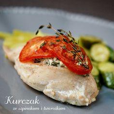 kurczak ze szpinakiem i twarożkiem (1) Polish Recipes, Polish Food, Coleslaw, Bruschetta, Curry, Good Food, Food And Drink, Dinner Recipes, Lunch