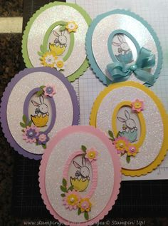 Everybunny Sugar Easter Egg cards | LC:GR pdf instrux: https://stampingartdotorg.files.wordpress.com/2013/03/sugareggcard.pdf