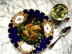 Simple Falafels, Black Rice, and Tzatziki —easy recipe. Healthy too!