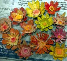 egg carton flowers by janelafazio, via Flickr