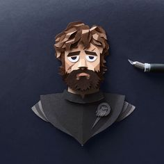 Tyrion Lannister - Game of Thrones Papercuts by Robbin Gregorio