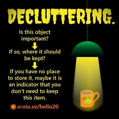 http://arata.se/hello20 #DECLUTTERING Is this object important? If so where it should be kept? If you have no place to store it maybe it is an indicator that you dont need to keep this item. #SeiitiArata #ArataAcademyENGLISH #ArataAcademy #video #object #objects #instagood #follow #followme #photooftheday #picoftheday #vid #youtube #youtuber #channel #instadaily #tagsta #igersoftheday #instamood #instagrammer #bestoftheday #instagramers #picoftheday #tbt #igdaily #webstagram #statigram…