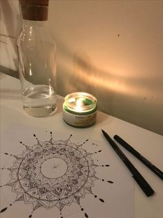 When I feel down, and need to distract myself; drawing a mandala is always a good idea.