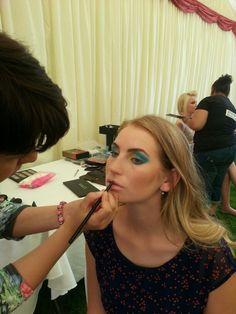 Backstage make up at Cheltenham Cricket Festival