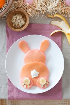 pink bunny butt pancakes for easter... or anytime you want a little dose of joy in your day :) - FRI 4/14