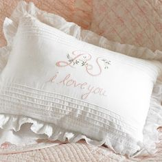 I pinned this PS I Love You Pillow from the Taylor Linens event at Joss & Main!