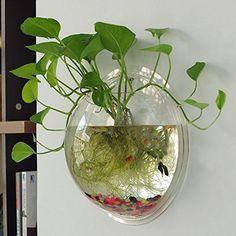Yooyoo Creative Acrylic Hanging Wall Mount Fish Tank Bowl...