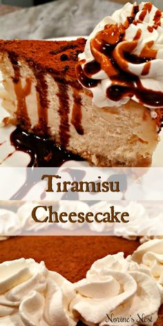 Tiramisu Cheesecake Thick Creamy Rich Kahlua Mocha Cheesecake topped with a deep rich Kahlua chocolate sauce. A spectacular dessert perfect for any special occasion. Tiramisu Cheesecake, Cheesecake Recipes, Dessert Recipes, Cheesecake Toppings, Food Cakes, Cupcake Cakes, Cupcakes, Just Desserts, Delicious Desserts