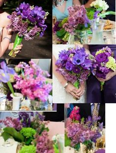 purple wedding flower collection