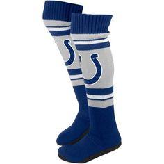 Indianapolis Colts Ladies Knit Knee Slipper Socks - Gray/Royal Blue