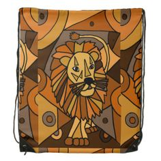 Awesome Lion Art Abstract Backpack #lions #art #backpacks #abstract #animals And www.zazzle.com/inspirationrocks*
