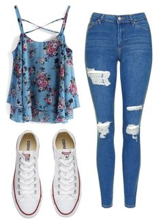 A fashion look from July 2017 featuring Chicwish tops, Topshop jeans and Converse sneakers. Browse and shop related looks. Girls Fashion Clothes, Teenage Girl Outfits, Teen Fashion Outfits, Swag Outfits, Mode Outfits, Outfits For Teens, Outfits With Converse, Converse Sneakers, Cute Clothes For Girls
