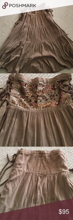 Beautiful BCBG skirt ! Excellent condition skirt amazing details! Adjustable on the side. BCBG Skirts Maxi