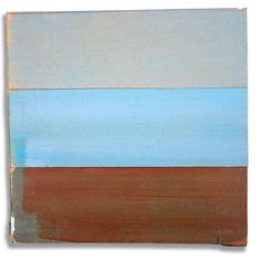 Hans Gerritsen — Karton_serie_03 - Abstract Dutch landscape painting on cardboard, Holland, Groningen, cardboard