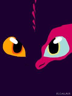 Mocho, el dragon de ojos bicolor :)