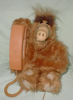 Alf phone. omg I WANT this, for real! lol