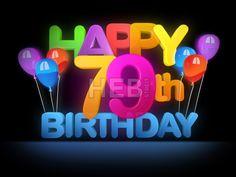 Happy 79th Birthday Title, dark by Hebstreits