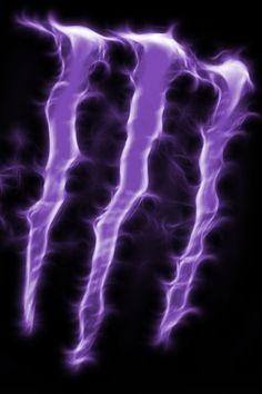 Purple flaming monster