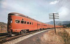 Norfolk & Western Powhatan Arrow streamlined observation car # 581 near Singer Virginia Train Tracks, Train Rides, Train Museum, Railroad Pictures, Train Art, Rail Car, Old Trains, Train Pictures, Train Engines