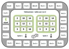 Domein: basisvaardigheden, onderdeel: vermenigvuldigen, doel: de tafel van 1/2 Speech Language Therapy, Speech And Language, Bingo, Teaching Math, Teaching Resources, Math Magic, 2nd Grade Math, Math Classroom, School Projects