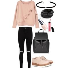 A fashion look from May 2017 by somolicek featuring MANGO, Boohoo, Jil Sander, Carbon & Hyde and Bare Escentuals