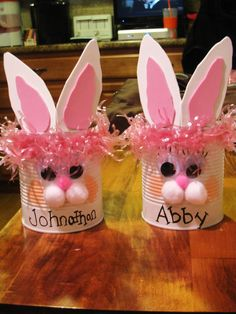 These easter baskets are made out of a coffee can and a formula my pinterest inspired easter baskets made them for the kids i nanny negle Images