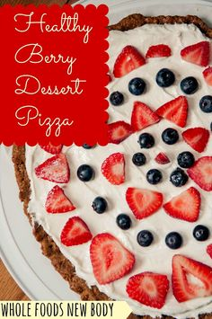 Blog love and {Healthy Berry Dessert Pizza}