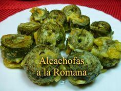 ALCACHOFAS A LA ROMANA. Qué ricas y fáciles de hacer, verás como te encanta esta receta!!