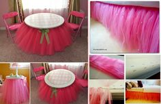bed and table tutu skirt