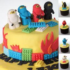 #Lego #cupcakes Awesome!!! My boys would sooo love this as their birthday cake. Ninjaaaaa Goooo!!!