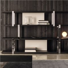 Minotti Dalton Chrome Bookcase - Style # DaltonChrome, Modern bookcases, contemporary bookcases, books shelves at SWITCHmodern.com