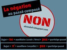 El Conde. fr: La négation au passé composé