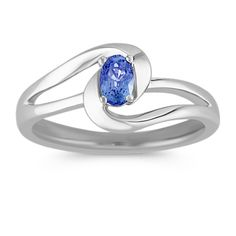One vibrant blue sapphire, at approximately .25 carat total weight, is on display in this fabulous ring.  Crafted in quality sterling silver, this ring will add pizzazz to any ensemble.