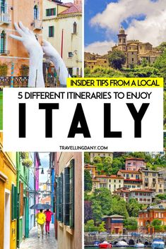 5 amazing itineraries to spend 10 days in Italy. With all the best tips from a local expert! From a gondola ride in Venice to the stunning beauty of Tuscany, from horseback rides at the Dolomites to the turquoise waters in Positano on the Amalfi Coast! 10 Days In Italy, Things To Do In Italy, Places In Italy, Italy In October, Italy Travel Tips, Travel And Tourism, Travel Route, Europe Destinations, Italy Vacation