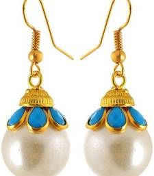 Fashion Earring for girls, White danglers-drops, Gift for girls, surprise earning, collage girls fashion, top in india, fashion future, Indian latest Abuot Product:-        Brand:-      Waama Jewels Model No.:-    wje2016 Jewellery Type:-  Earring Color:-      White Ideal for:-    Women Shap:-       Dangle & Drop Metal:-      Brass Ocassion:-     Wedding