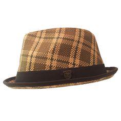 ebbf86eb081 Peter Grimm Plaid Trilby Fedora Hat