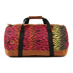 Buy Mi-Pac Hot Zebra Print Duffle Bag - Rainbow from Allsole. Rainbow Zebra, Duffel Bag, Zebra Print, My Bags, Shoulder Strap, Shoe Bag, Hot, Stuff To Buy, Accessories