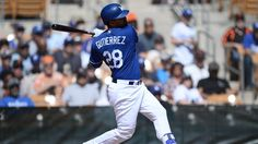 With a left-handed pitcher on the mound for the Padres, the Dodgers start a few more right-handed hitters on Tuesday, including Franklin Gutierrez in left field and Kiké Hernandez in center field.