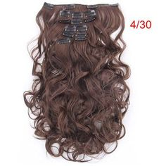 Specs: Model: 999 Length:50cm 20inch Stretched length: 60cm 24inch Material:100% Korea High Quality Synthetic Heat-Resisting Fibre, can curl or straight at 100-150 degree A set of 7 Pieces: 1 pcs - 8 inch piece ( for the back of the head ) with 4 clips 2 pcs - 5 inch pieces ( for the back of the head ) with 3 clips 2 pcs - 3 inch pieces ( for the sides of the head ) with 2 clips 2 pcs - 1.5 inch pieces ( for the sides of the head ) with 1 clip Colored Hair Extensions, Clip In Hair Extensions, Long Curly, Hair Pieces, Hair Clips, Modeling, Curls, Hair Color, Long Hair Styles