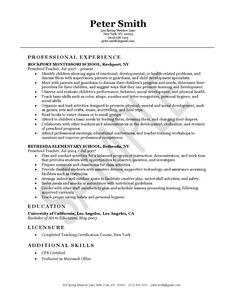 cover letter for paraeducator example httpwwwresumecareerinfo - Sample Of Teacher Resume