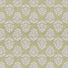 Summer Green Sprig Printed Cotton