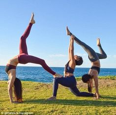 3 People Yoga Poses, Three Person Yoga Poses, Group Yoga Poses, Couples Yoga Poses, Acro Yoga Poses, Yoga Poses For Two, Partner Yoga Poses, Restorative Yoga Poses, Yoga Beginners