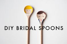 DIY wooden bridal spoons
