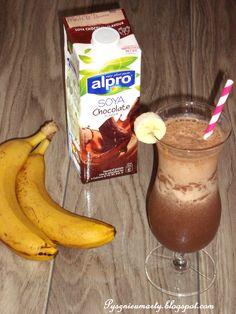 Choco&Banana iced coffee with Malibu
