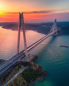 work from home, Travel Insurance Uk, Beautiful Sunset, Beautiful Places, Beautiful Smile, Route 66, Bridges Architecture, Bridge Engineering, Visit Turkey, Hongkong