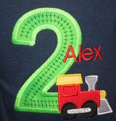 GreatStitch Train Birthday Shirt 1st Birthday 2nd by GreatStitch, $23.95
