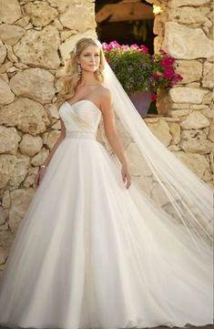 vestidos de noiva tomara que caia acinturado