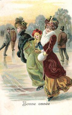 Vintage christmas - ice skating